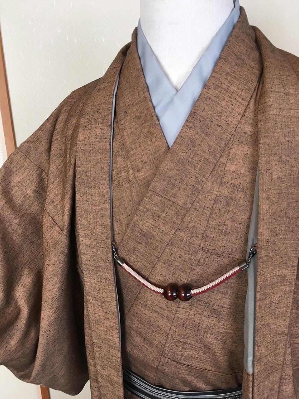 男の紬正絹きもののイメージ